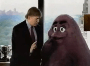 Donald Trump McDonald's commercial 2002