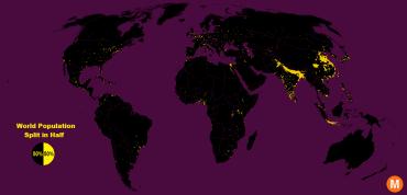 world population density map