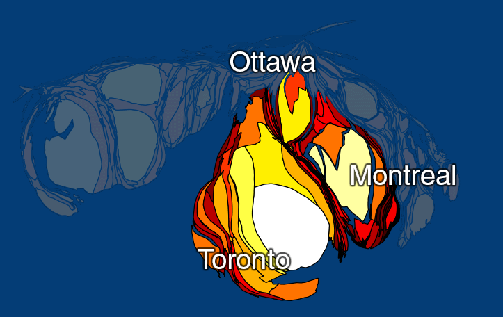 map canadian cities population