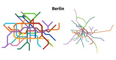 Berlin metro map transformation