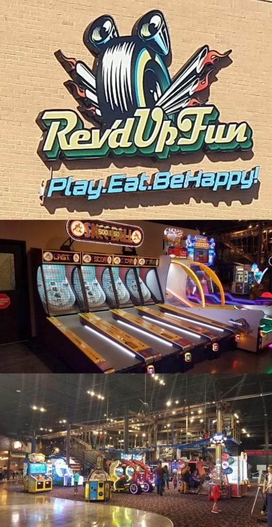 Rev'd Up Fun in Woodhaven is a 30,000 square foot indoor playground that features laser tag, climbing structure, bumper cars, interactive 3D theatre thrill ride, zip-line & agility ropes course, arcadegames, and a cafe.