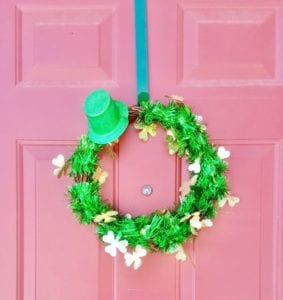 Check out how I used just 3 items to create this Dollar Tree St. Patrick's Day Wreath.