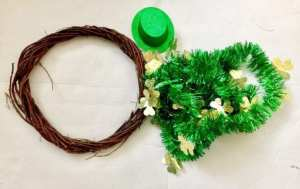DIY St. Patrick's Day Wreath material