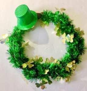 DIY St. patricks Day wreath