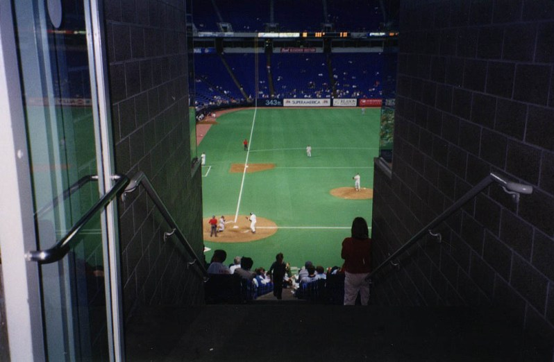 The Metrodome was the only stadium to host a Billy Graham appearence AND a satanist ceremony in the same weekend. Twins TV color man appeared only at the latter.