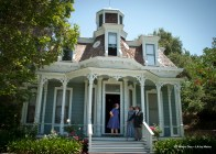 The Valley Knudsen House originally was in Lincoln Heights. It features Eastlake, also claaed Queen Anne, Victorian style elements.