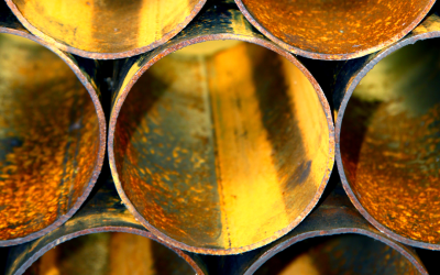 How much do pipes rust in a year?