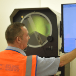Profile Projector Ensures Quality for Magnetic Technology Experts