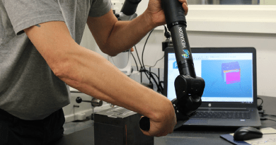 Portable Measuring Arm Offers Efficient Reverse Engineering