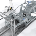 Absolute Shopfloor Robotic  Measurement System Charges EV Production Quality