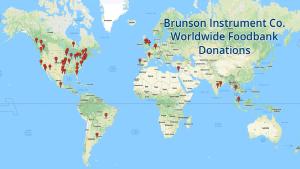 Brunson Donates to Foodbanks Across the Globe