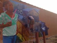 Idora neighborhood mural under way
