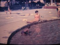 Swimming and sunbathing at South Side Park Pool