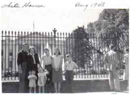 Visiting the White House in 1948. Courtesy of Mary Beth Potts.