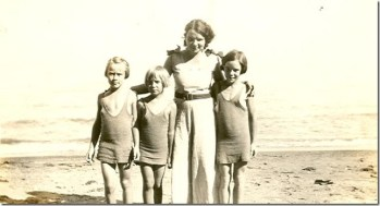Geneva on the Lake. Pictured: my mother, Marge Green, Ruthie Nelson, and Donna Green. Courtesy of Sue Reniff.