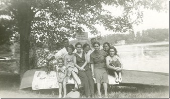 Brady Lake, Ohio. Pictured: my grandmother, mother and her sisters and friends. Courtesy of Sue Wren.