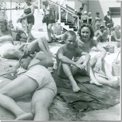 Conneaut Lake Park. Pictured: Paul Reniff, cousin Tom Tusinac, and Marge Reniff. Courtesy of Sue Reniff.