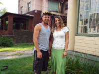 Joe and Rachel Parent, new homeowners in the Wick Park Historic District