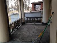 Excavated porch decking