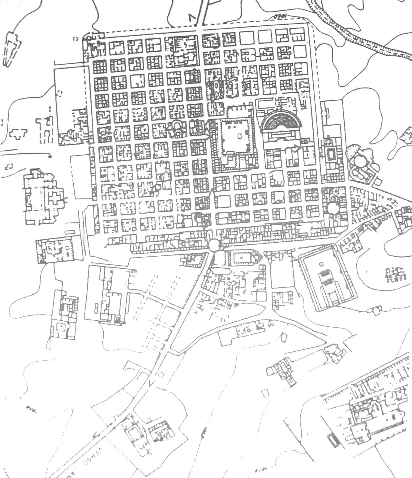 Urbs la structure urbaine de la ville romaine