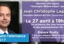 Construire l'alternance pour 2017 ! Réunion publique avec Jean-Christophe LAGARDE