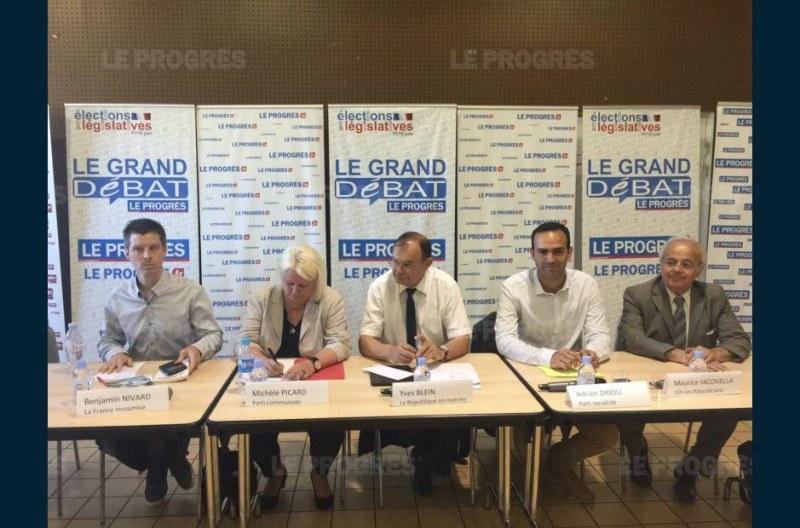 Débat 14e circonscription Rhône Lyon Maurice Iacovella Législatives 2017