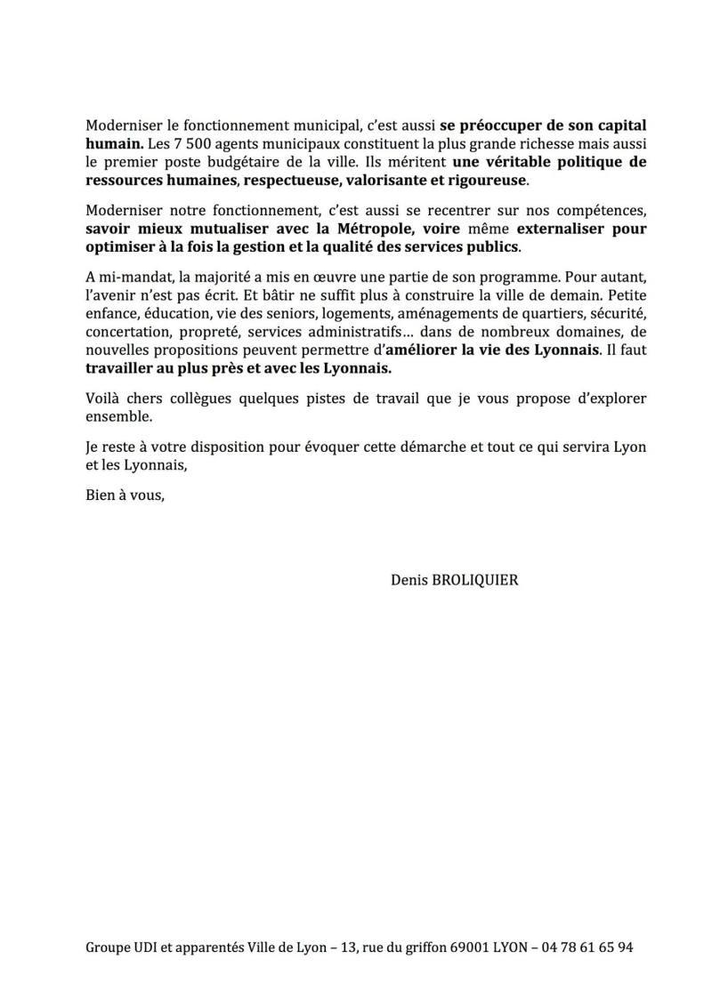 Candidature Denis broliquer - Mairie de Lyon - UDI métropole de Lyon 2