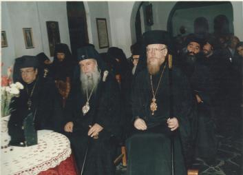 Mitropolitul Evloghios si Mitropolitul Ciprian de Fili -Grecia