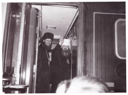 Vizita Mitropolitului Nicodim Rotov la Milano impreuna cu Vladica Evloghios la acea vreme Igumen in Patriarhia Moscovei