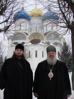 Manastirea Sf.Serghey de Radonej Rusia . Episcop Nicodim Vulpe de Edinet si Arhiepiscopul Avondios Bica