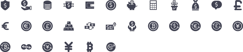 Money Glyph Icons