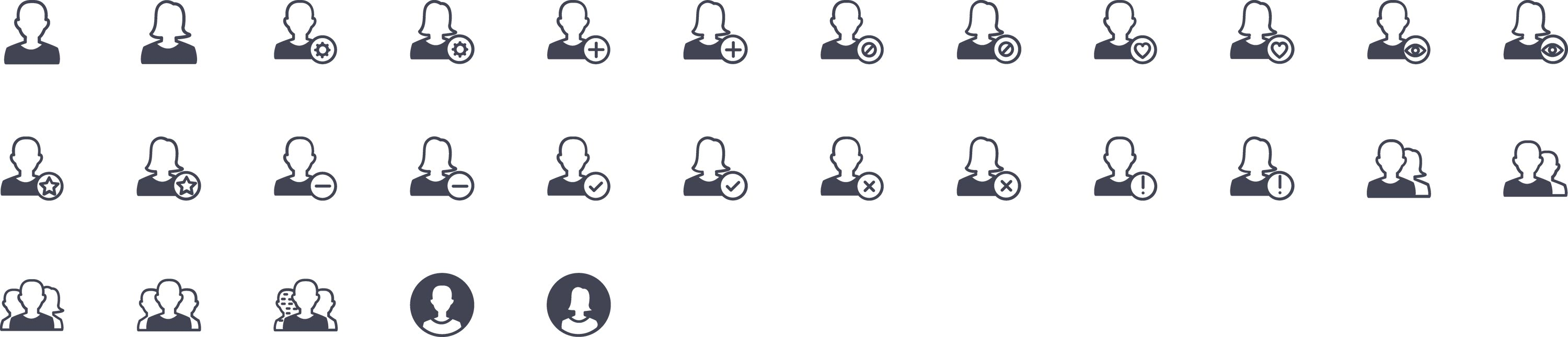 Users Glyph Icons