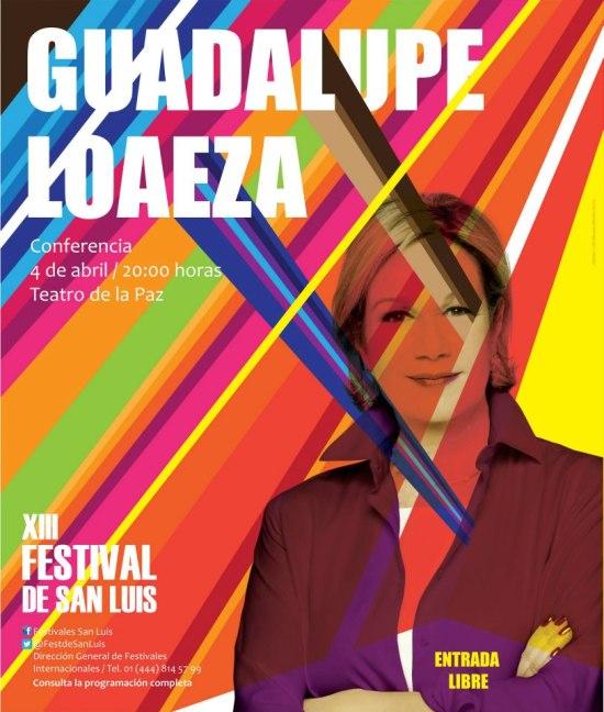 Guadaluoe Loaeza  en el XIII FEstival de San Luis