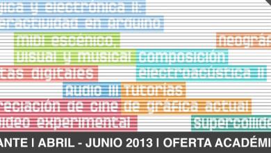 Photo of Oferta Académica del Cante Abril – Junio 2013