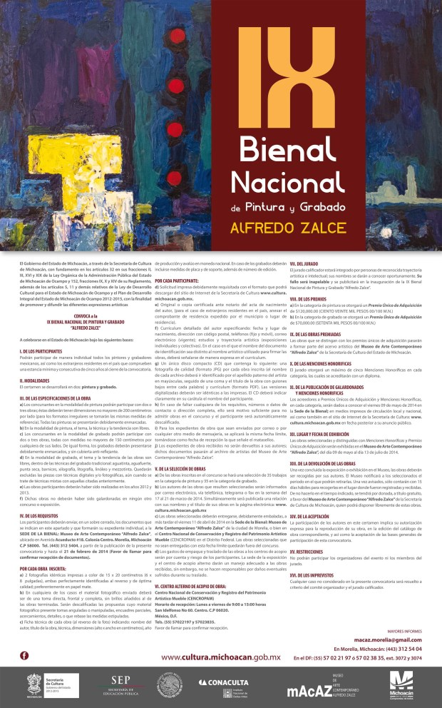 cartel - IX BIENAL convocatoria