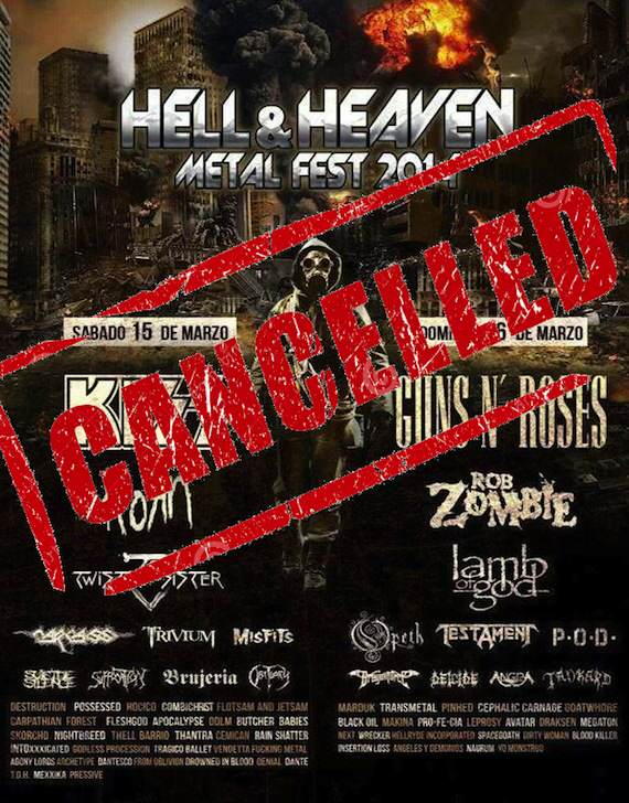 Hell and Heaven cancelado