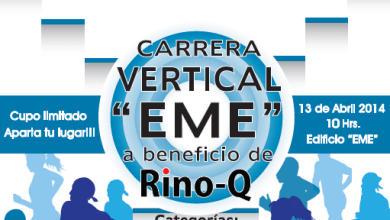 Photo of Rino-Q invita a la carrera vertical «EME»