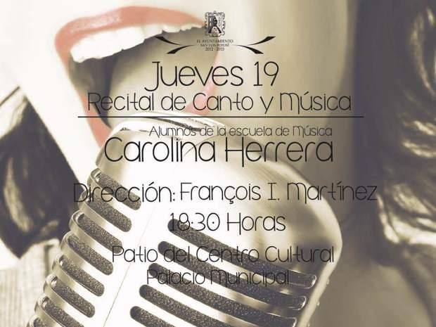 jueves 19 recital de canto