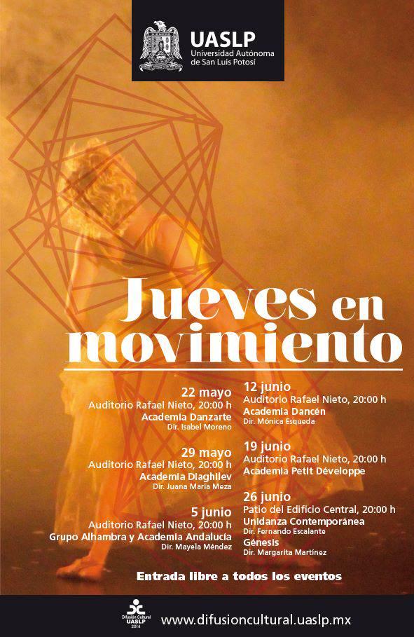 Jueves en movimiento  @ Auditorio Rafael Nieto | San Luis Potosí | San Luis Potosí | México