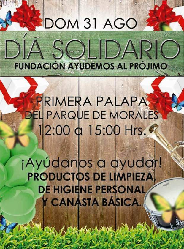 Día solidario fundación ayudenos al prójimo  @ Parque Moralas | San Luis Potosí | San Luis Potosí | México