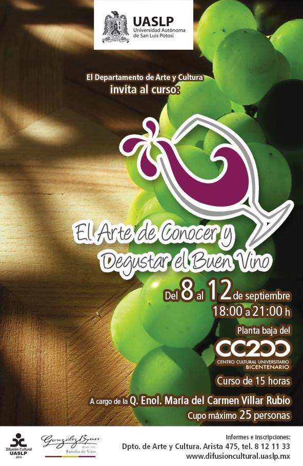 El Arte de Conocer y Degustar el Buen Vino @ Centro Cultural Bicentenario | San Luis Potosí | San Luis Potosí | México