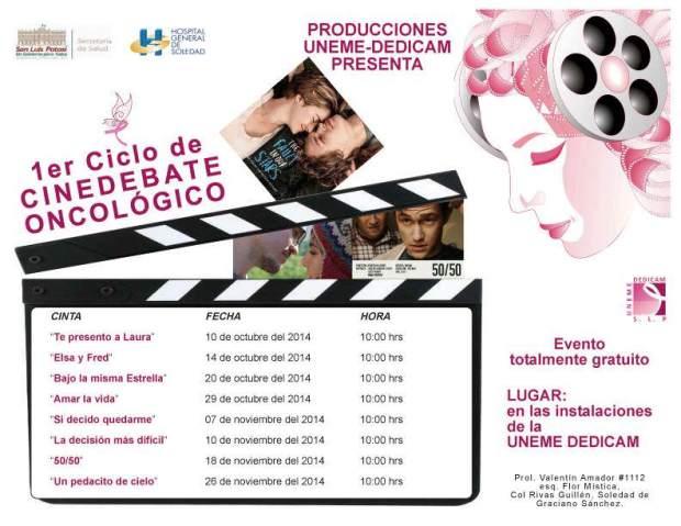 1er Ciclo de Cinedebate Oncológico @ UNEMEDEDICAM   San Luis Potosí   San Luis Potosí   México