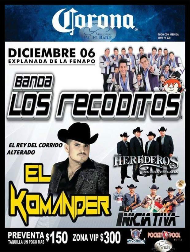Los Recoditos / El Komander @ Explanada de la Fenapo | San Luis Potosí | San Luis Potosí | México