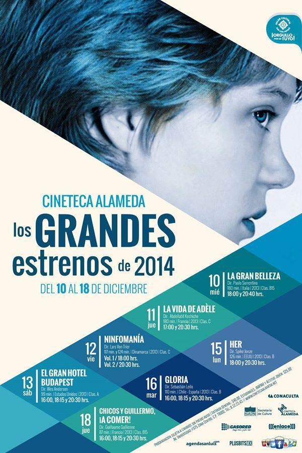 Los Grandes estrenos 2014 Cineteca Alameda