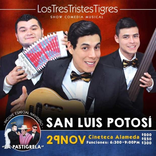 Los Tres Tristes Tigres en San Luis Potosí  @ Cineteca Alameda | San Luis Potosí | San Luis Potosí | México