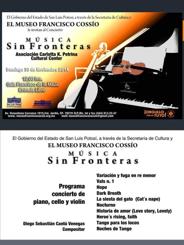 Música sin fronteras @ Museo Francisco Cossío | San Luis Potosí | San Luis Potosí | México