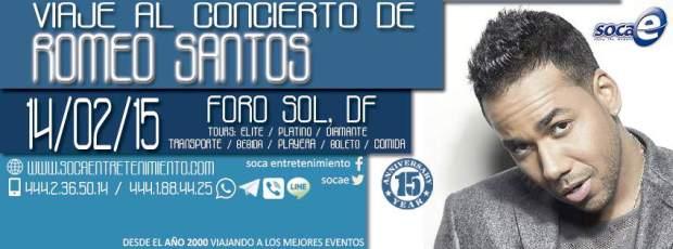 Viaje al concierto de Romeo Santos