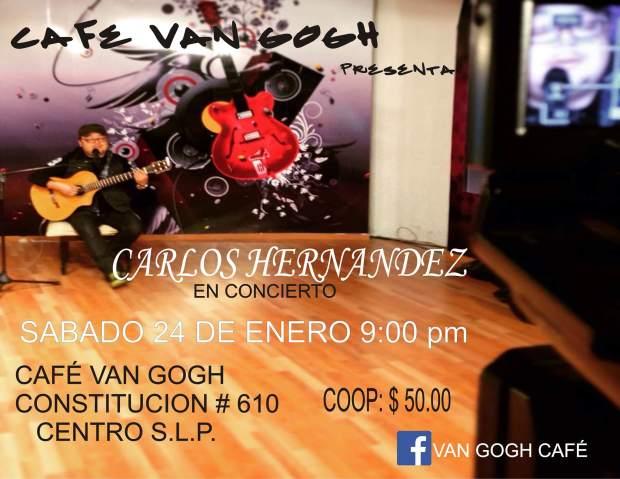 Carlistos Hernández en concierto