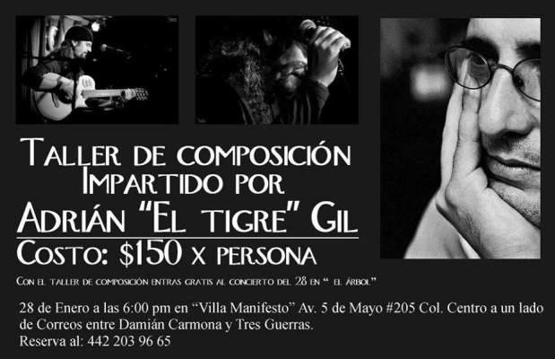 Taller de composición impartido por Adrián El Tigre Gil @ Villa Manifiesto | San Luis Potosí | San Luis Potosí | México