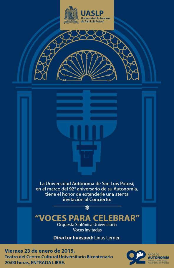 Voces para celebrar @ Centro Cultural Universitario Bicentenario